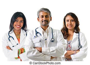 indien, doctors.