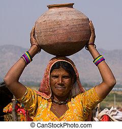 indien, femme