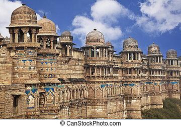 indien, fort, jaipur