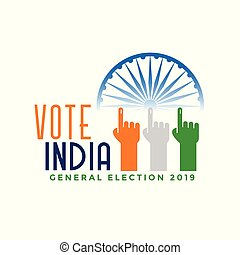 indien, hand, finger, stimme, allgemein, wahl