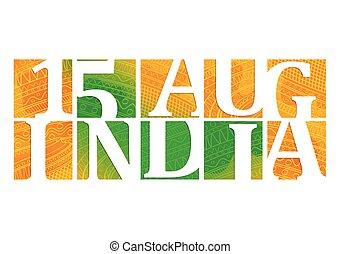 indien, jour, indépendance