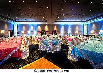 indien, réception, mariage