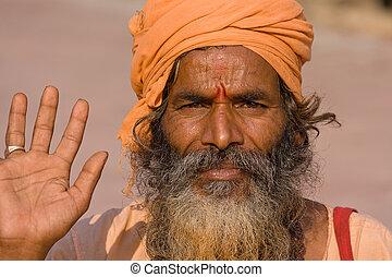 indien, sadhu, accueils