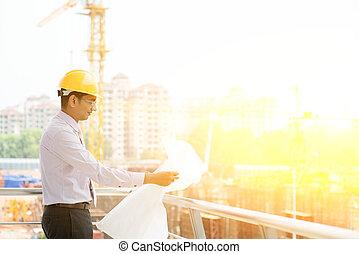 indien, site, entrepreneur, ingénieur, fonctionnement
