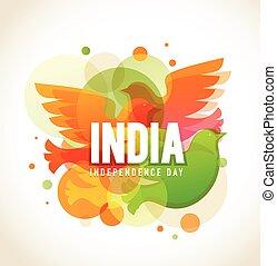 indien, tag, unabhängigkeit