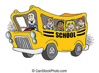 indietro scuola, autobus