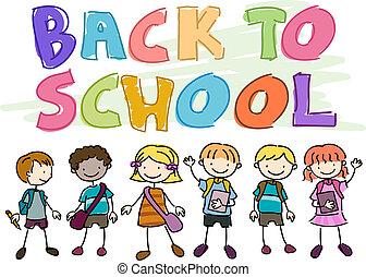 indietro scuola, scarabocchiare