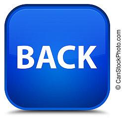 indietro, speciale, quadrato blu, bottone
