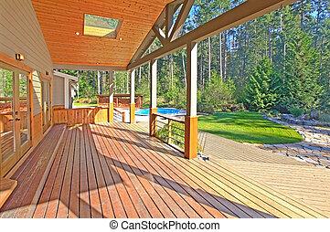 Blu passi veranda blu veranda vaso passi fronte for Disegni veranda anteriore