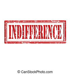 Grunge rubber stamp with word Indifference, vector illustration