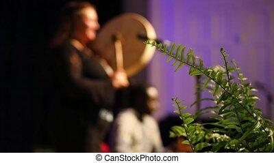 indigène, festival, musique, sacré, batteur