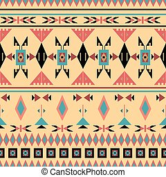 indigenas, americano, seamless, padrão