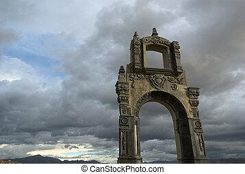 Indigenous arch, La Paz, Bolivia