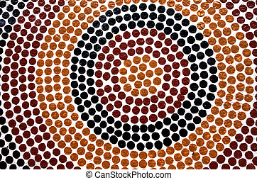 Indigenous Australian art Dot painting. It's one of the ...