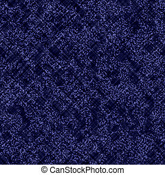 Indigo blue batik dyed fabric effect texture background. Seamless japanese repeat pattern swatch. Painterly fcriss cross grid bleach dye. Masculine asian fusion all over kimono textile cloth print.