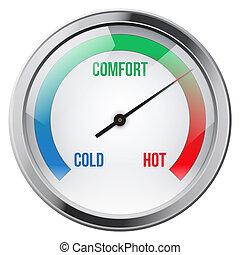 indikator, meter, von, comfort.