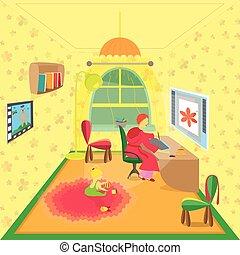 Casa gallina colorato illustrazione illustrazione d for Piani di fattoria con stanza bonus