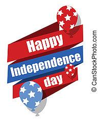 indipendenza, felice, giorno, celebrazione