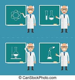 indique, scientifique, vieux, tableau