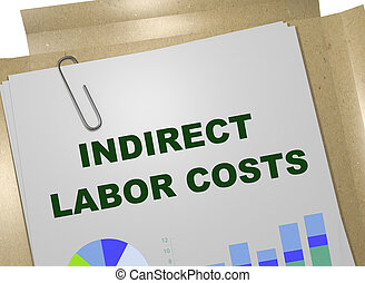 INDIRECT LABOR COSTS concept - 3D illustration of INDIRECT...