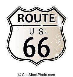 indirizzi 66, segno strada principale