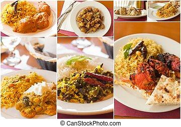 indisch voedsel, collage