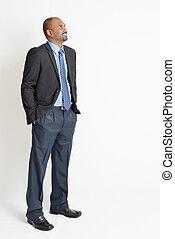 indische , businesspeople, weg schauen