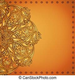 indische , henna, hintergrund