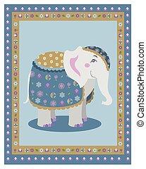 indische , posierend, elefant