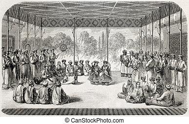 Indische gem lde fourty pavilion le chehel for Indische tur