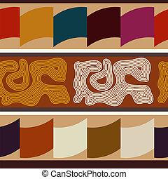indisk, etnisk, abstrakt, seamless, struktur