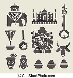 indisk, iconerne