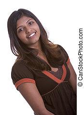 indisk, kvinna