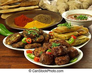 indisk, måltiden