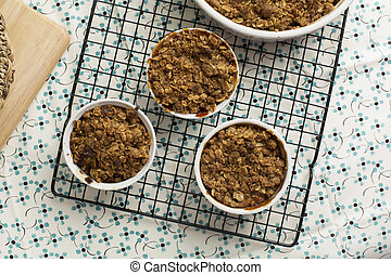 Individual Apple Crumble