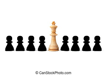 individual chess people - chess man showing individuality...