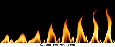 Individual flames