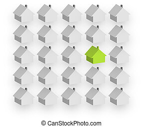 Individual housebuilding - An illustration showing man...