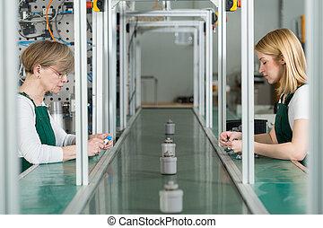 Individual work at factory