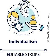 Individualism concept icon. Self-affirmation. Freedom of ...
