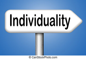 individuality being different stand out from crowd having a unique personality be one of a kind and unique personal freedom development and existence