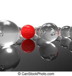Individuality - Concept for stranger, spy, insider, leader, ...