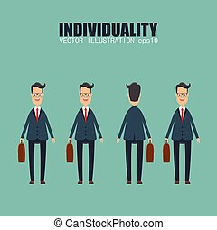 Individuality concept vector illustration in flat design.