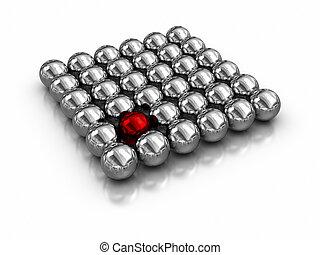 Individuality - magnetic balls.