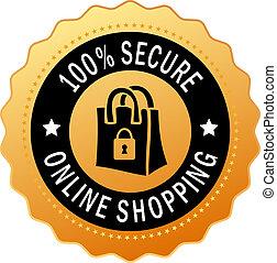 indkøb, secure, ikon