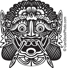 Indo mask. - An Indonesian demon mask.