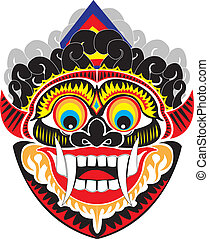 Indo mask - An Indonesian demon mask.