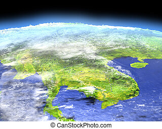 Indochina from space - Indochina as seen from earth's orbit ...
