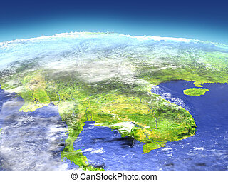 Indochina from space - Indochina from Earth's orbit in space...