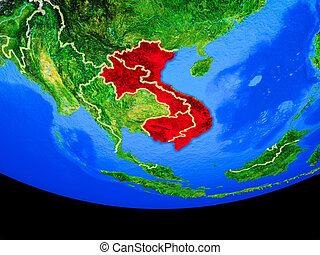 Indochina from space on Earth - Indochina from space on ...